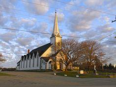Eglise St-Pierre 1152 Rte 335 Middle West Pubnico, NS Concert Venues, Nova Scotia, Middle, Tower, Building, Travel, Beautiful, Viajes, Computer Case
