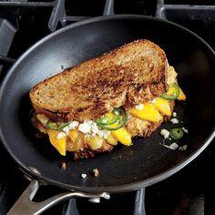 Griddled Banana, Mango, and Jalapeño Sandwiches   CookingLight.com #myplate #fruit