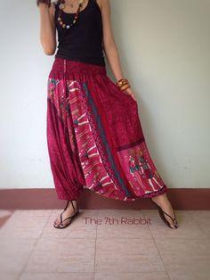 Harem Pant Colourful Egypt Printed by the7thrabbit on Etsy