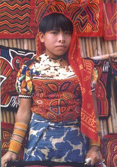 Molas of the Kuna Indians of San Blas, Panama - reminds me of my service trip to Panama in 2006