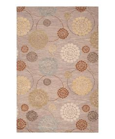 Take a look at this Khaki Green & Brown Sugar Dream Wool Rug by Surya on #zulily today!