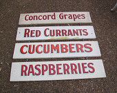 produce stand signs vintage - Google Search