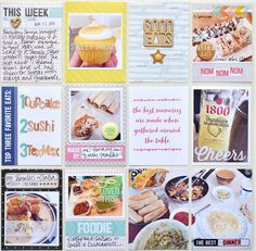 #papercraft #Scrapbook #layout.  jenchapin foodie (1) Love this. Perfect for Crocante or burgers.