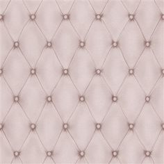 Pretty in pink. This highly realistic Faux leather wallpapers are fashionable and fun.   Contemporary Faux Leather Lilac Tufted Wallpaper | R3684 #pantone #rosequartz