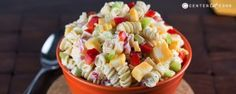 Creamy Cheddar Pasta Salad: 1 pound rotini (or pasta of choice) 1 red bell pepper, finely chopped 3 ribs celery, finely chopped 8 ounces cheddar cheese, cut into small chunks 1/4 cup finely chopped onion 1 cup mayo 1/4 cup sugar 2 tablespoons apple cider vinegar 1/2 teaspoon black pepper