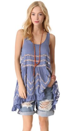 Free People Slip Voile Trapeze Top | SHOPBOP