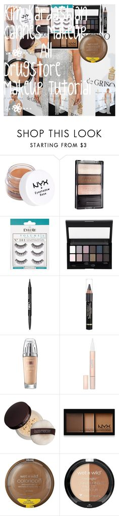 Kim Kardashian Cannes Makeup | All Drugstore Makeup Tutorial | by oroartye-1 on Polyvore featuring beauty, Lumi, Laura Mercier, NYX, Maybelline, L'Oréal Paris, Wet n Wild and eylure