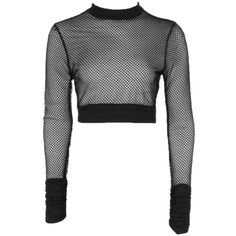 Boohoo Monica Fishnet Mesh Crop ($12) ❤ liked on Polyvore featuring tops, crop tops, white off the shoulder top, off the shoulder tops, jersey crop top and pastel crop top