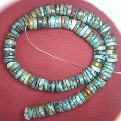 11 mm Rough Cut Chinese Turquoise Heishi Beads Craft Jewlery In The USA Lot  645 #Erthart #Southwest