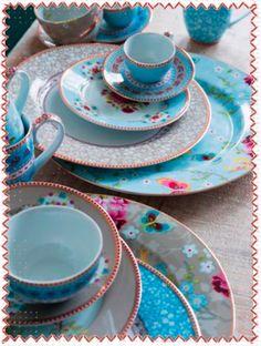 Pip Studio Chinese Rose Mug Blue
