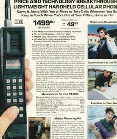 I totally remember when these were the only cellphones you could get. Look at that price!