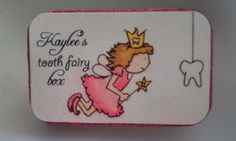 Tooth Fairy Box Altered Altoid Tin Pink by YoureSoSaturday on Etsy