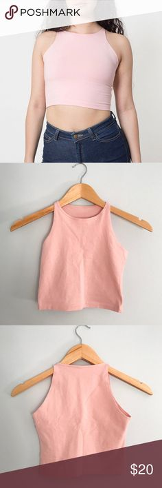 American Apparel // Crop Top American Apparel cotton spandex sleeveless crop top in pink. Worn twice. In excellent condition. Size small. 95% combed cotton 5% elastane. No tags are in tact. American Apparel Tops Crop Tops