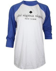 Phi Sigma Sigma Anything But Ordinary Baseball Tee by Adam Block Design | Custom Greek Apparel & Sorority Clothes | www.adamblockdesign.com