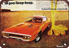 1971 Plymouth Muscle Cars Vintage Look Reproduction Metal Sign * Learn more by visiting the image link.
