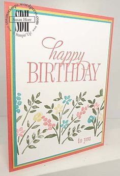 Number Of Years, Happy Birthday Everyone, Stampin Up, susanstamps.wordpress.com