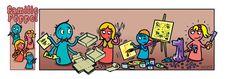 spelcomponenten en stukken, afdrukbare kaarten
