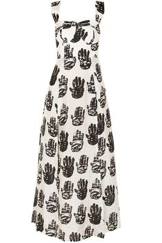 Palm print maxi dress available only at Pernia's Pop-Up Shop.