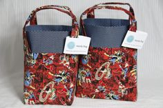 DC Women in Red and Blue Handy Bags by DaydreamersEmporium on Etsy