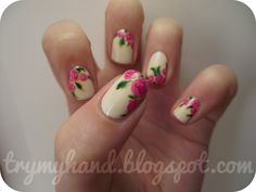 Try My Hand: Alphabet Nail Art Challenge : F for Floral