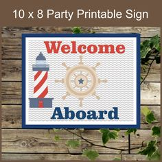 Hand Painted Lighthouse Welcome Sign By Carolscountryseasons