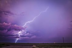 """Pretty in Pink - Cool Lightning Shot taking around Sunset giving everything a nice Pink Hue.  More of my Work can be found at <a href=""""http://www.facebook.com/GlennMPattersonDesign"""">Glenn M Patterson Design</a> <a href=""""http://fineartamerica.com/profiles/glenn-patterson.html"""">Fine Art America</a> <a href=""""http://www.istockphoto.com/file_search.php?action=file&userID=4226608"""">Istock</a>"""