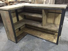Drinks Mini Bar - Garden/ Shed/ outdoor - Industrial Style Reclaimed F – Square One Interiors Ltd Outdoor Garden Bar, Bar Patio, Garden Bar Shed, Outdoor Pallet Bar, Backyard Bar, Outdoor Bars, Rustic Outdoor Bar, Pallet Bar Plans, Rustic Bars