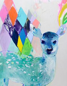 Miranda Skoczek Art. I'd gladly cover my whole house with art like this