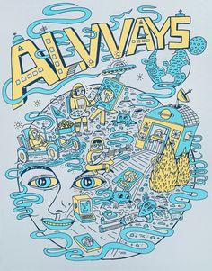 Alvvays Tour Tshirt by killeracid on Etsy