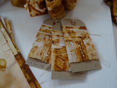 rust dyed ribbon by Jule Mallett of www.hengrels.co.uk