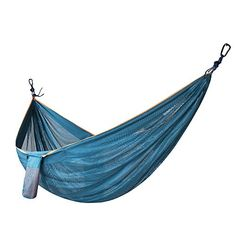 MAIBET Portable Lightweight Hammock Multifunctional Hammock Premium Quality Setup Fast And Easy Hammock For Backpacking Camping Travel Beach Yard Blue2 >>> Be sure to check out this awesome product.