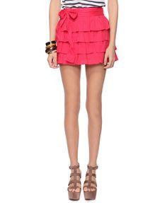 Western Ruffle Skirt