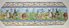 Bunny Table Runner Quilted fabric from by PicketFenceFabric, $28.00