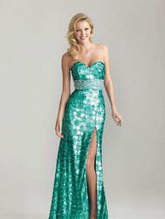 Night Moves 6755 - The shades of green for prom 2013 #formalapproach