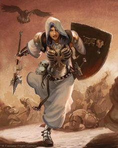 female human   cleric knight