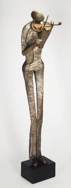 Euphony Modern Jazz Style Floor Sculpture Statue Figurine available at AllSculptures.com