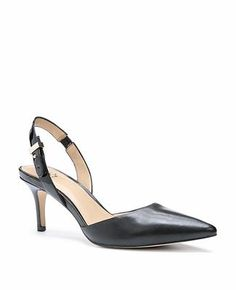 Suzette Leather Slingback Heels