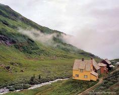 Scandinavian Farmhouse Photography. Rustic Landscape wall art. Lush green valley...