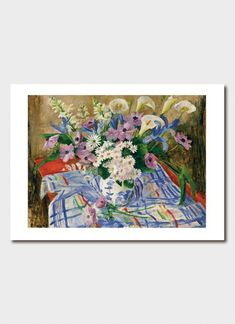 Card - Vase of Flowers 1962 Australian Authors, International Books, Flower Vases, Flowers, Stationery, Gift Wrapping, Interior, Floral, Artist
