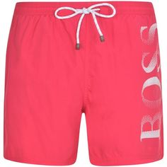 BOSS BODYWEAR Octopus Swim Shorts ($65) ❤ liked on Polyvore featuring swimwear, swim wear, swim swimwear, swim trunks and boss hugo boss
