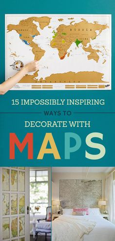 15 Cheap And Super Creative Ways To Decorate Your Home With Maps Amazing Ideas