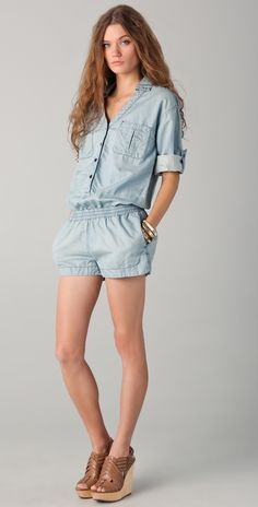 ea3598b414 AG Adriano Goldschmied All In One Denim Romper Jean Romper