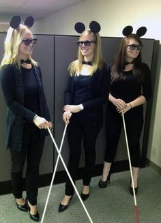 creative halloween costume for the office three blind mice