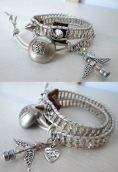 White angel two -wrap bracelet by So cliché jewelry  https://www.facebook.com/soclichejewelry