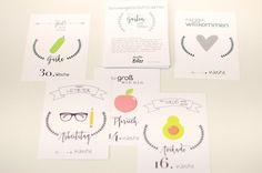 Weiteres - Meilensteinkarten Schwangerschaft GARTEN GLÜCK - ein Designerstück von halloBliss bei DaWanda