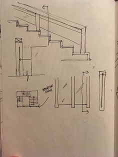 Library stairs sketch analysis