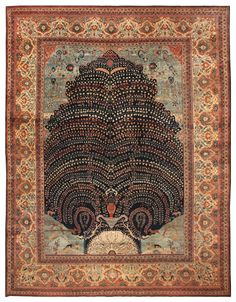 View this beautiful Antique Tabriz Persian Rug 44869 from Nazmiyal's fine antique rugs and decorative carpet collection.