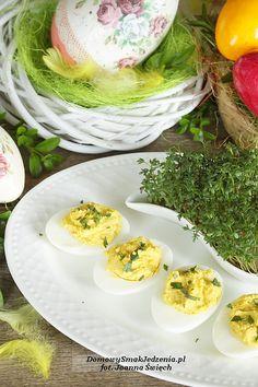 jajka faszerowane pastą musztardową | Domowy Smak Jedzenia .pl Eggs, Breakfast, Food, Morning Coffee, Essen, Egg, Meals, Yemek, Egg As Food