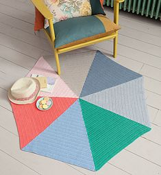 Ravelry: #090-04 Modèle tapis au crochet multicolore pattern by Phildar Design Team