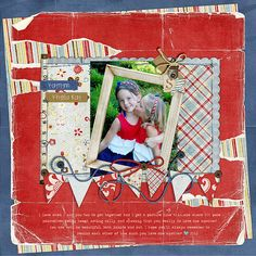 Love the angled background papers - the tears, the banner. Everything! layout by casharina